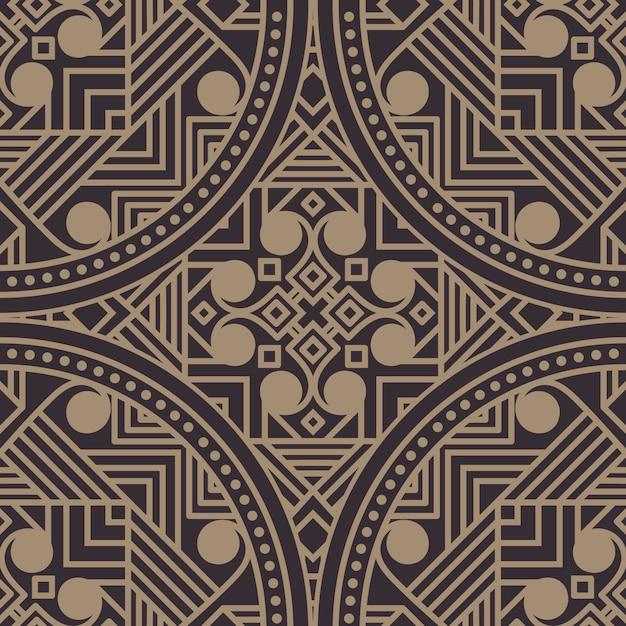 Ilustración geométrica estilo zentangle vector gratuito