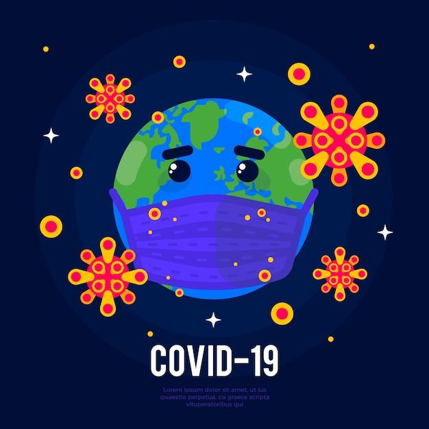 Ilustración de globo de coronavirus vector gratuito