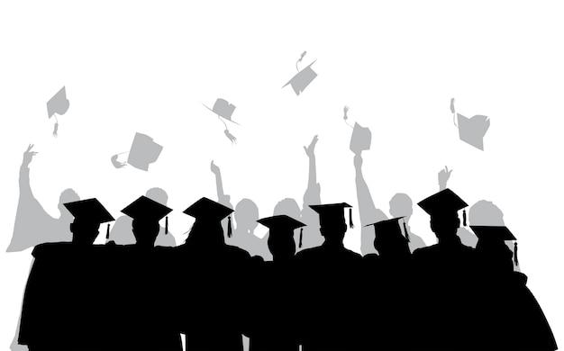 Ilustración de graduados universitarios vector gratuito