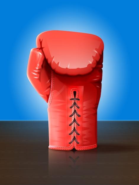 Ilustración de guante de boxeo vector gratuito