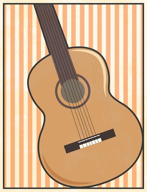 Ilustración de guitarra Vector Premium