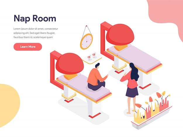 Ilustración de la habitación de la siesta Vector Premium
