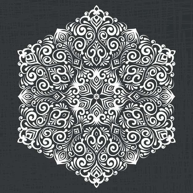 Ilustración de hexágono decorativo de damasco vector gratuito