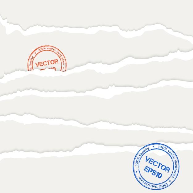 Ilustración de hojas de papel rasgado Vector Premium