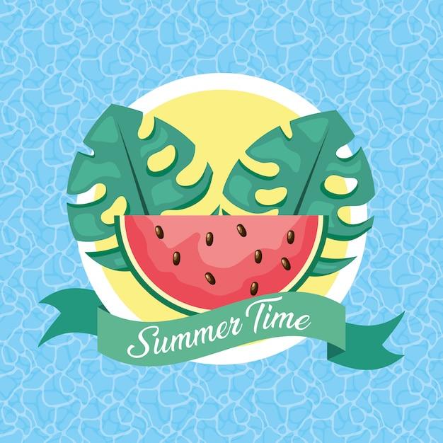 Ilustración de horario de verano Vector Premium