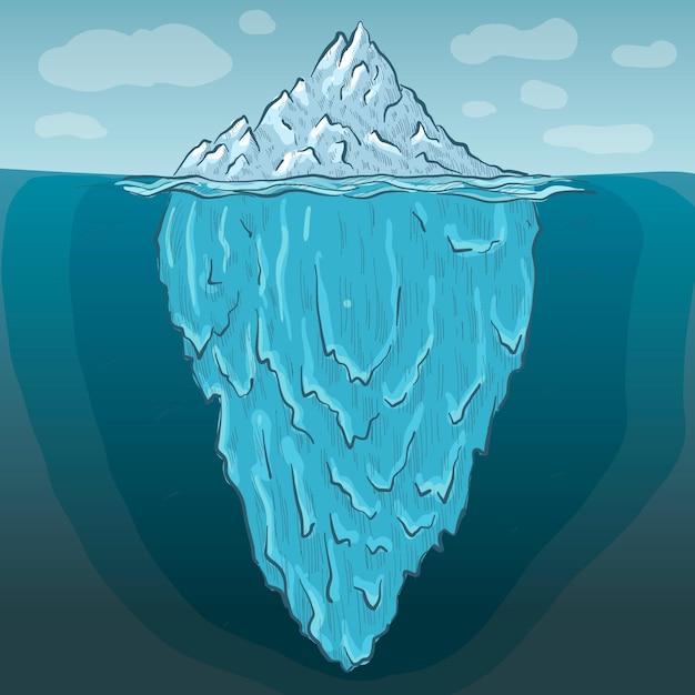 Ilustración de iceberg vector gratuito