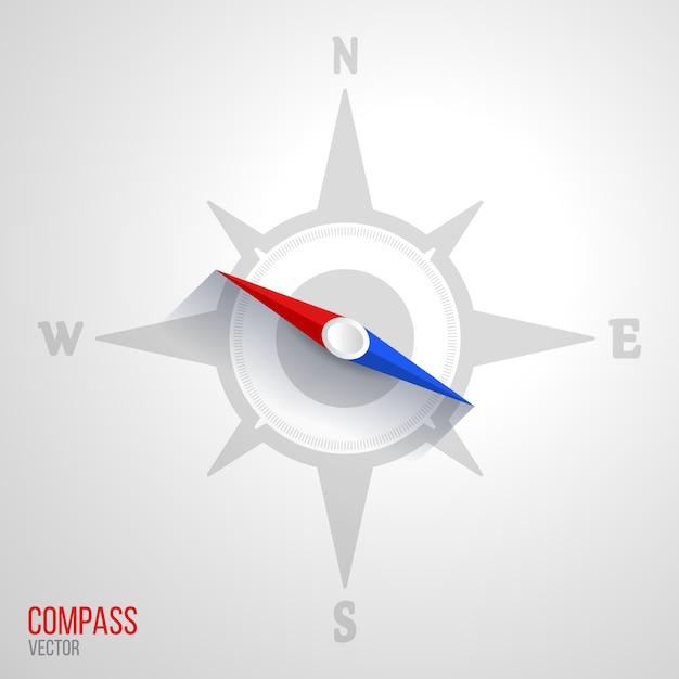 Ilustración del icono de brújula vector gratuito