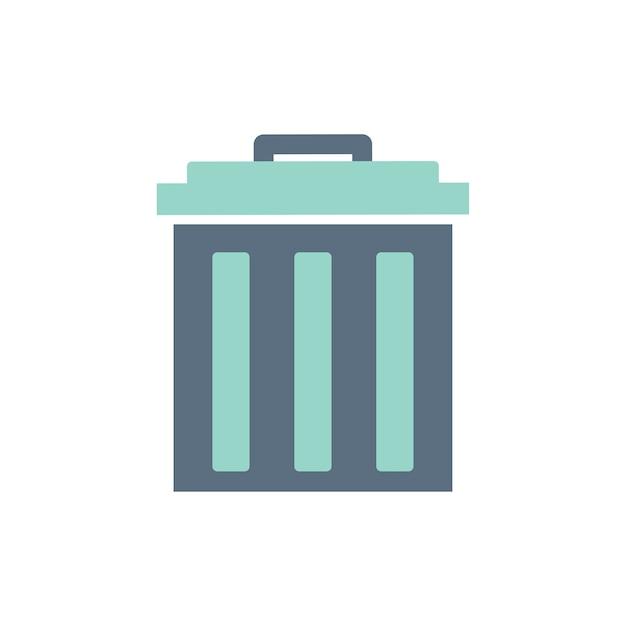 Ilustración del icono de cubo de basura vector gratuito