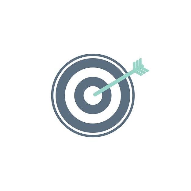 Ilustración del icono de destino de negocios vector gratuito