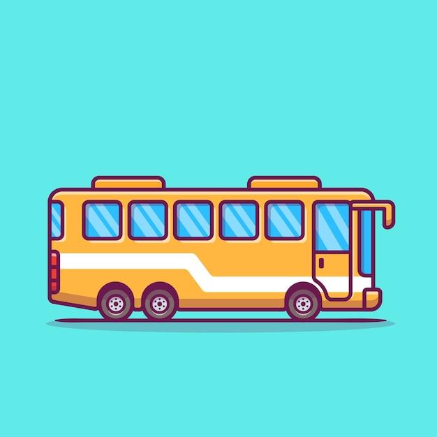 Ilustración de icono de dibujos animados de autobús. vector gratuito