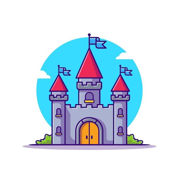 Ilustración de icono de dibujos animados de castle palace. vector gratuito
