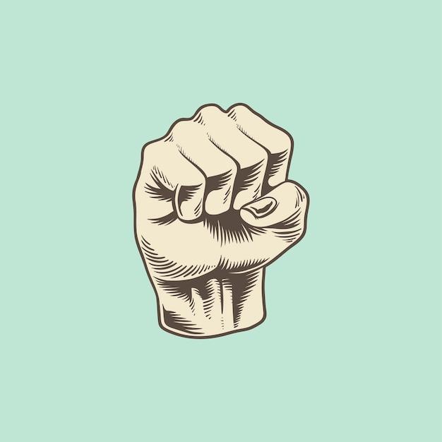 Ilustración del icono de puño de poder vector gratuito