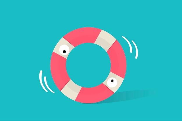 Ilustración del icono del tubo de vida sobre fondo azul vector gratuito