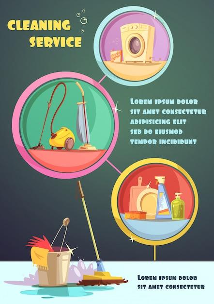 Ilustración de infografía de limpieza vector gratuito