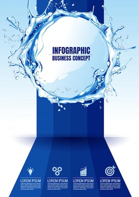 Ilustración infografía Vector Premium