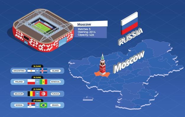 Ilustración infográfica de la copa de fútbol vector gratuito