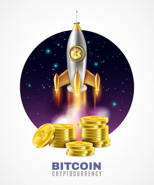 Ilustración de inicio de moneda criptográfica vector gratuito