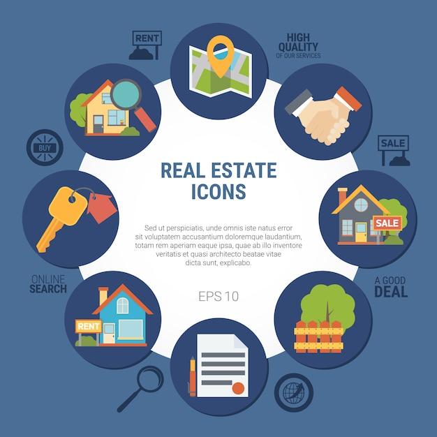 Ilustración inmobiliaria vector gratuito