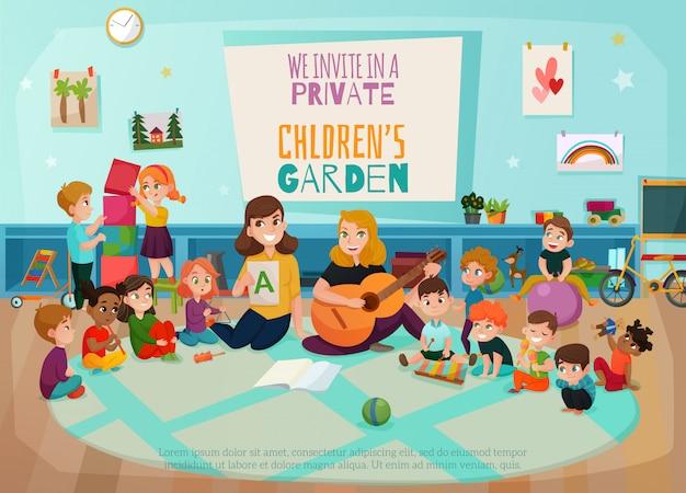 Ilustración de jardín de infantes vector gratuito
