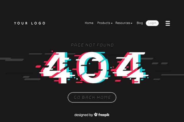 Ilustración para landing page con error 404 concepto. vector gratuito