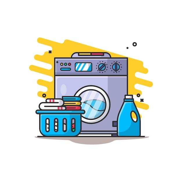 Ilustración de lavandería Vector Premium