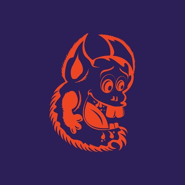 7601ef101a3bd Ilustración linda cabeza de monstruo