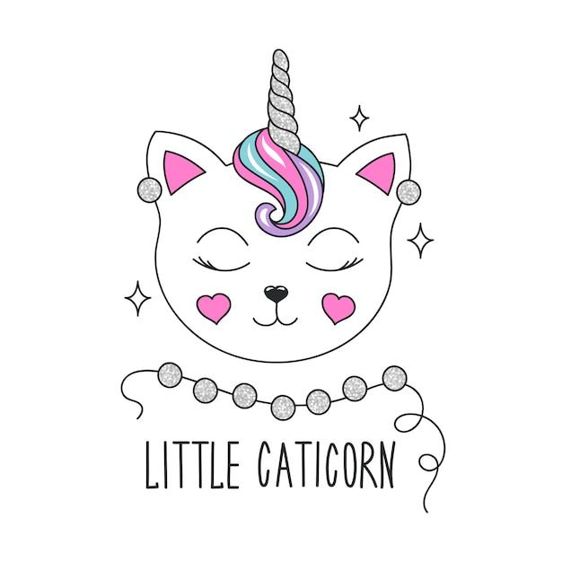 Ilustración de lindo gatito Vector Premium