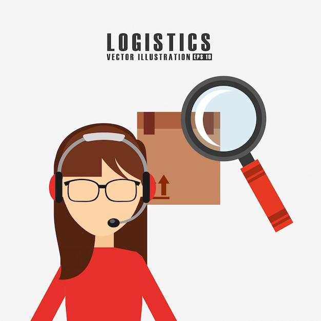 Ilustración de logística de envío vector gratuito