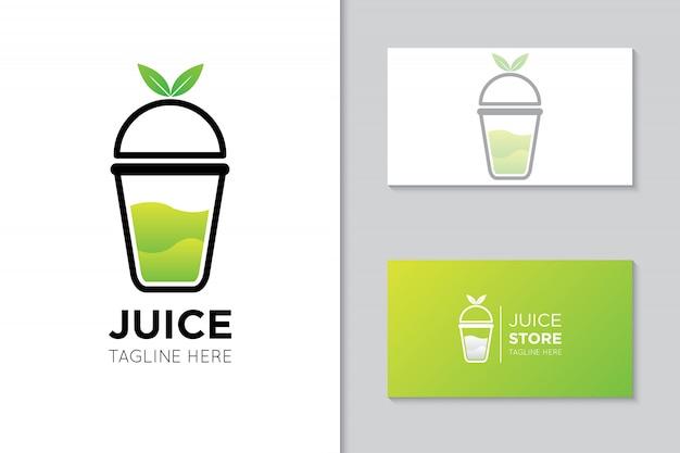 Ilustración de logo e icono de jugo Vector Premium