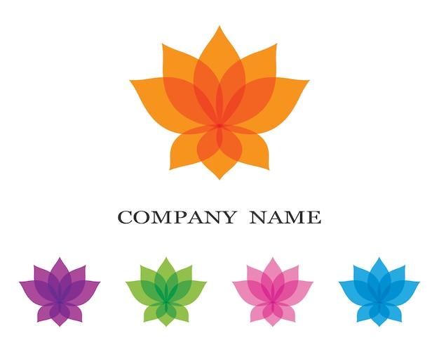 Ilustración de logo de lotus Vector Premium