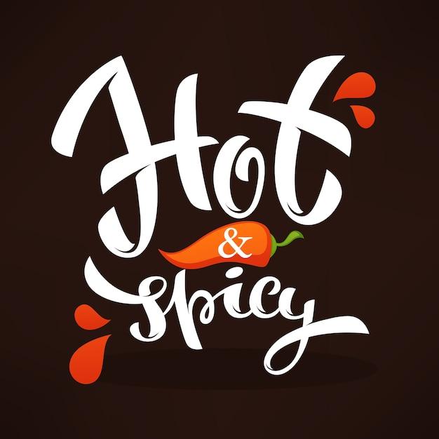 Ilustración de logotipo de ají picante y picante Vector Premium