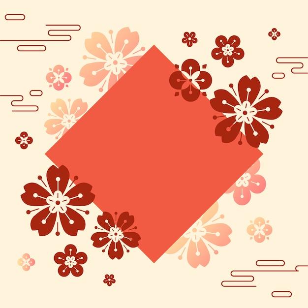Ilustración de maqueta de año nuevo chino vector gratuito