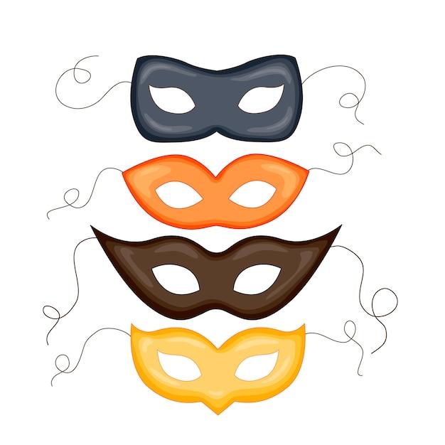 Ilustración de máscara de carnaval de moda Vector Premium