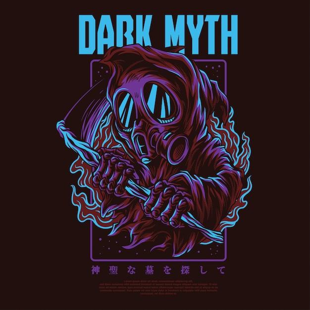 Ilustración del mito oscuro Vector Premium