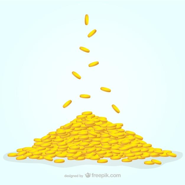 Ilustración de monedas vector gratuito