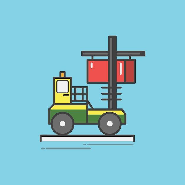 Ilustración de un montacargas vector gratuito