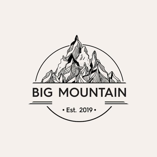 Ilustración de montaña de cristal Vector Premium