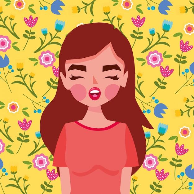 Ilustración mujer Vector Premium