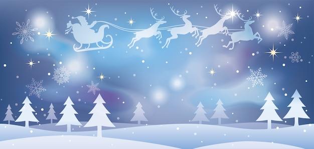 Ilustración navideña con santa claus vector gratuito