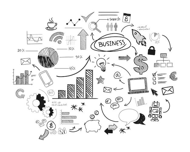 Ilustración del negocio de inicio vector gratuito