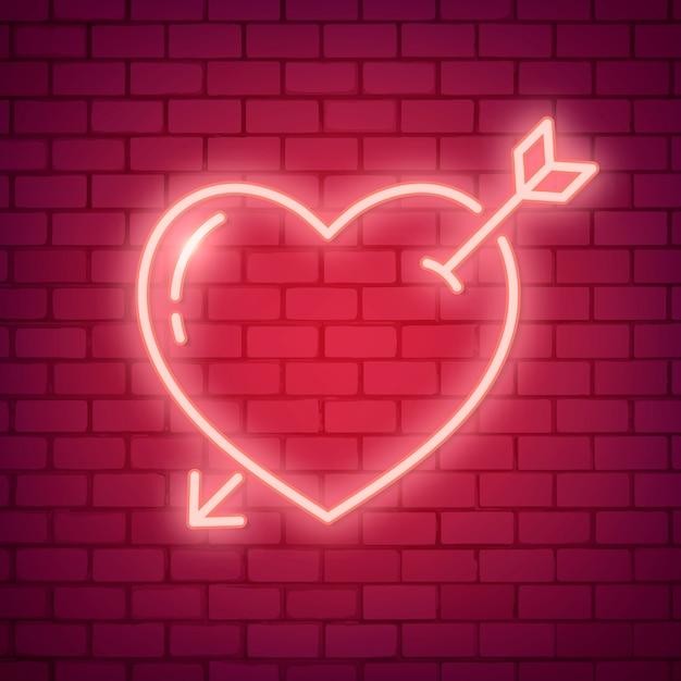 Ilustración de neón amor vector gratuito