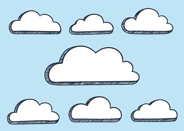 Ilustración de nubes vector gratuito