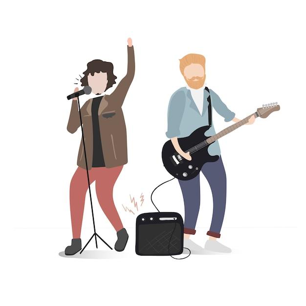 Dibujos Animados De Guitarrista Fotos Y Vectores Gratis