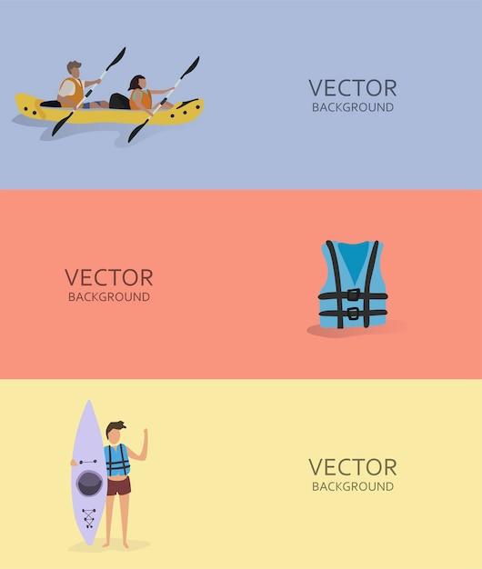 Ilustración de pasatiempos y actividades humanas vector gratuito