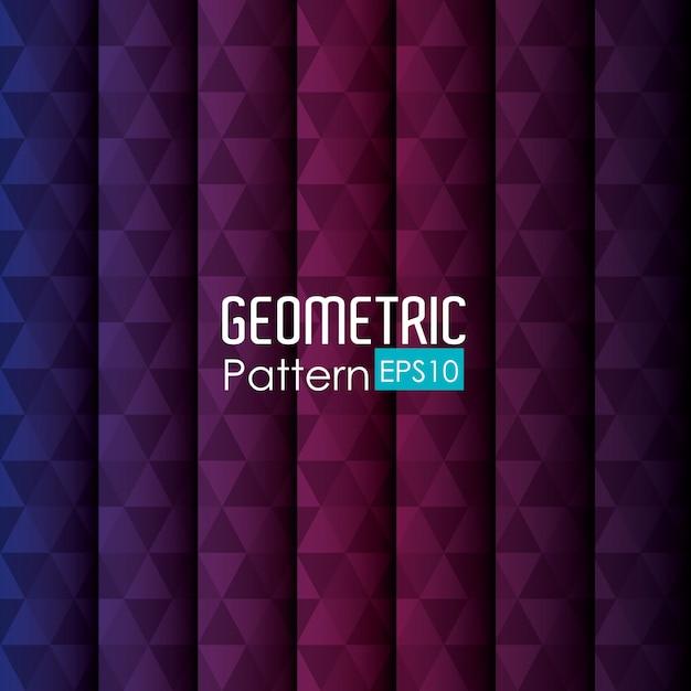 Ilustración del patrón geométrico vector gratuito