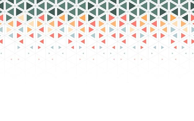 Ilustración de patrón de triángulo colorido vector gratuito