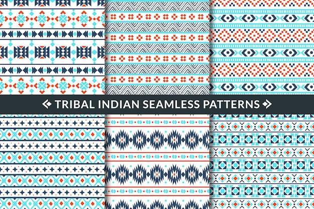 Ilustración de patrones sin fisuras indios tribales Vector Premium