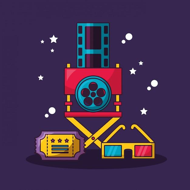 Ilustración de la película de cine vector gratuito