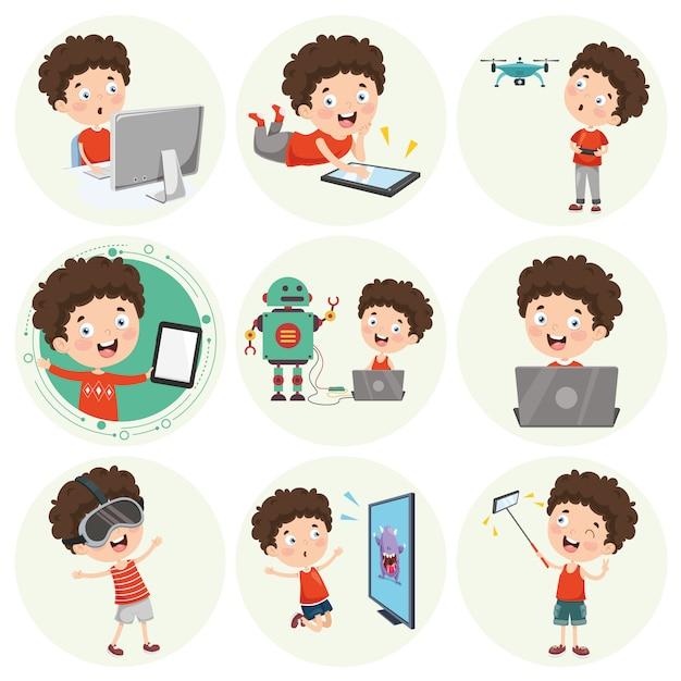Ilustración de personaje de dibujos animados Vector Premium