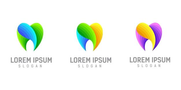 Ilustración de plantilla de diseño de logotipo dental Vector Premium